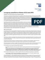 Eurogroup Statement on Greece of 22 June 2018