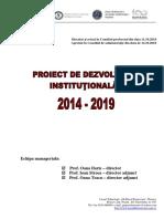 Proiect dezvoltare institutionala - Liceul Gh. R Roznov. 2018-2019
