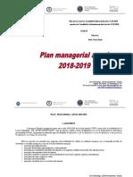Plan managerial anual - Liceul Gh. R Roznov. 2018-2019