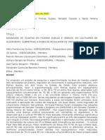 Relatório Final  outubro  2007 do Projeto Fileiras Duplas,Senador Canedo e Santa Helena 20 ago 2007 anos 2005 2006 e 2006 2007