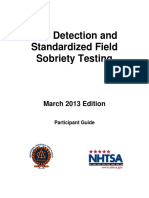 Impaired Driving Detection and Standardized Field Sobriety Testing Participant Guide (May 2013 Edition)
