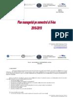 Plan Managerial Sem II - Liceul Gh. R Roznov. 2018-2019