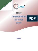 Estructura Del Curso - Programación en ArcGIS Con Python y ArcPy
