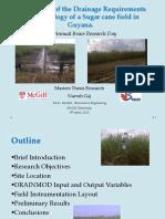 Hydrology of Sugar Cane Fields