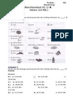 Abschlusstest A1 a Cs