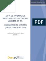 Guia n1 Mas 1401 Reconocimiento de Partes Piezas de Motor y Tren Motriz