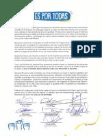 Manifiesto #EsPorTodas 2019