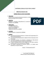 Modelodedirectiva(Vacaciones)