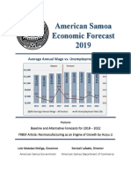 2019 American Samoa Economic Forecast