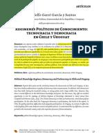 Regimenes politicos de conocimiento Chile y Uruguau