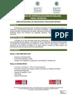 Programa Diplomado de Especializacion en Dialisis Para Tecnicos