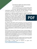 Aprueban El Reglamento Del Decreto Legislativo Sobre Extinción de Dominio