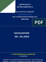 1. Socialización Del Sillabus. Dr Polit