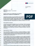 AG2016 - Rapport Général CAC - Exercice Clos Au 31 Decembre 2015