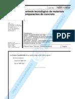 Normas ABNT NBR 12654 - Controle Tecnológico de materiais componentes do concreto