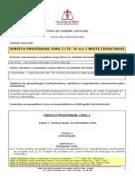 Programa direito processual civil II - Rui Pinto