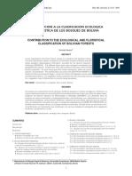 Clasificacion Ecologica de Bolivia