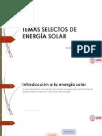Temas Selectos de Energía Solar