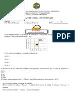 Avaliações de Matematiaca e Português