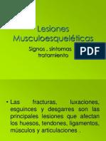 Lesiones musculoesqueléticas