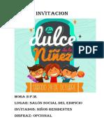 Invitacion Dia Dulce