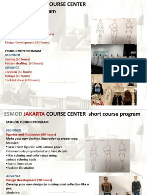 Esmod Course Centerxx Sewing Workweek And Weekend