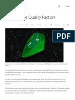 Jadeite Jade Quality Factors