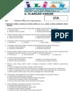 Soal Ulangan Harian IPA Kelas 4 SD - BAB 5 Makhluk Hidup Dan Lingkungannya.pdf