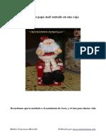 Molde Papa Noel Sentado en Caja