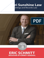 Missouri 2019 Sunshine Law Book
