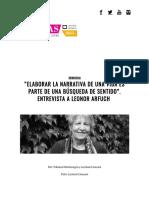 """""""Elaborar La Narrativa de Una Vida Es Parte de Una Búsqueda de Sentido"""". Entrevista a Leonor Arfuch – Revista Transas"""