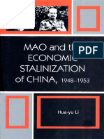 Mao and the Economic Stalinization of China, 1948-1953 - Hua-Yu Li