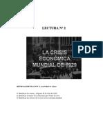 Lectura Nº 2 - Crisis de 1929