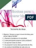1.3 Técnicas Para La Generación de Ideas