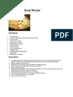 9 Soup Recipe