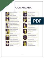 Printable Tarot Keyword Chart