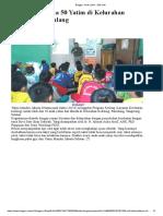 Kesling Bersama 50 Yatim Di Kelurahan Kedaung, Pamulang