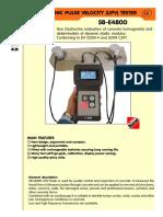 Controls Ultrasonic Pulse Velocity Tester 58 E4800epdf