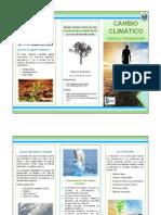Desarrollo Sustentable Triplico Cambio Climático
