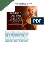 Novena a San Juan de la Cruz