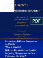 Quality Control Overview