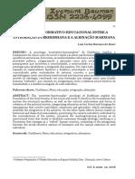 O processo formativo-educacional entre a integração durkheimiana e a alienação marxiana (Luiz Carlos Mariano Da Rosa)