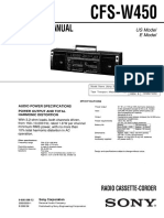 Sony Cfs-w450 Ver.1.1 Radio Cassette manual