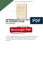Libro Introduccion a La Lectura de Jacques Lacan Oscar Masotta PDF Gratis OTc4OTg3MjQyNjYzNy8xMjUxOTA0