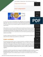 10 Claves Para Superar La Depresión - Psicólogos Granada - Centro de Psicología Clínica Nicolás Moreno