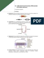 Cuestionario Previo. Aplicación de las Ecuaciones Diferenciales en circuitos eléctricos