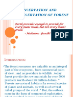 Conservation and Preservation of Forest
