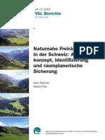 Naturnahe Freiräume in der Schweiz