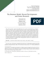 Zott et al. - 2011 - The Business Model Recent Developments and Future Research.pdf