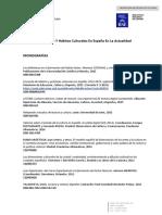 Lectura Y Hábitos Culturales en España en La Actualidad